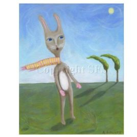 Rabbit with Scarf – Print