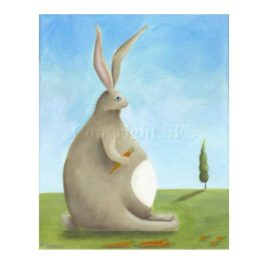 abundant harvest rabbit art print