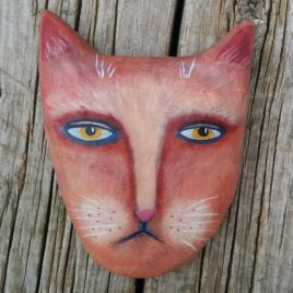 salmon cat wall-hanging