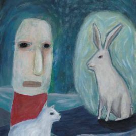 lowbrow art rabbit oracle painting