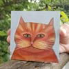 orange cat art