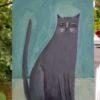 grey folk art painting