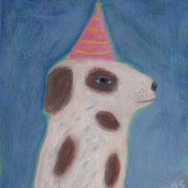spotted dog painting