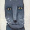 grey cat face painting