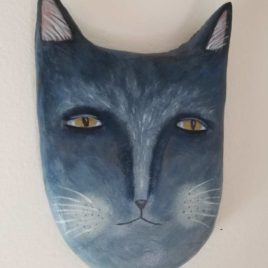 blue-gray cat face