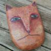 whimsical orange cat art