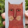 orange cat folk art