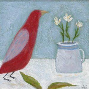 Still Life with Red Bird