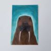 walrus marine animal painting