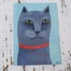 cat illustration naive style